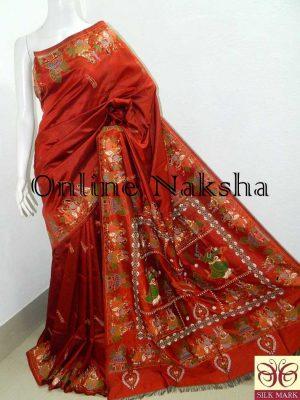 Pure Silk Patachitra Saree