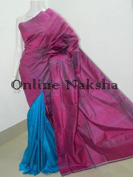Dual Tone Pure Silk Saree Online