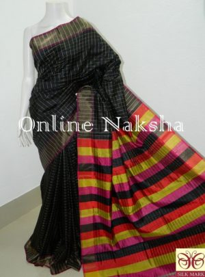 Black Designer Pure Silk Saree