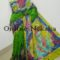 Handpainted Batik Pure Pattu Saree Online