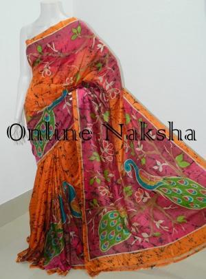 Handbatik Handloom Pure Silk Sarees