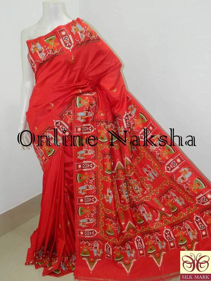 Patachitra Pure Silk Saree