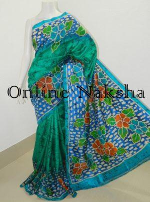 Bishnupuri Hand Batik Silk Saree Online