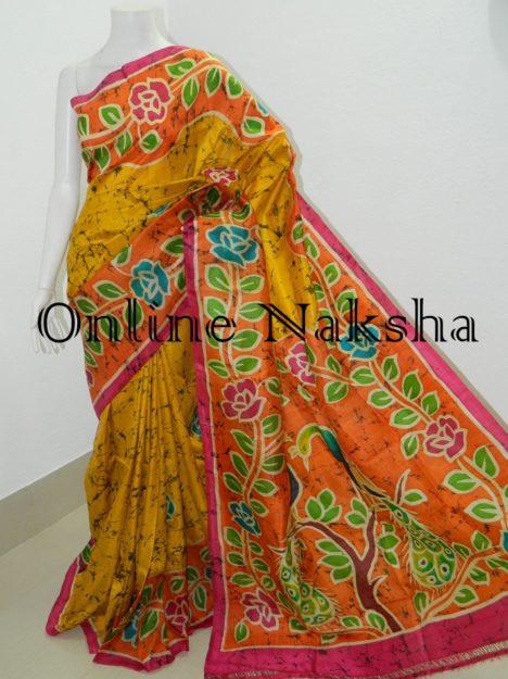 Pure Silk Hand Batik Saree Online