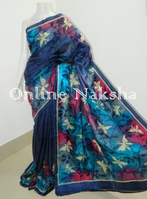 Hand Paint Handloom Batik Sarees Online