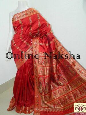Red Bridal Pure Silk Baluchari Sari Online