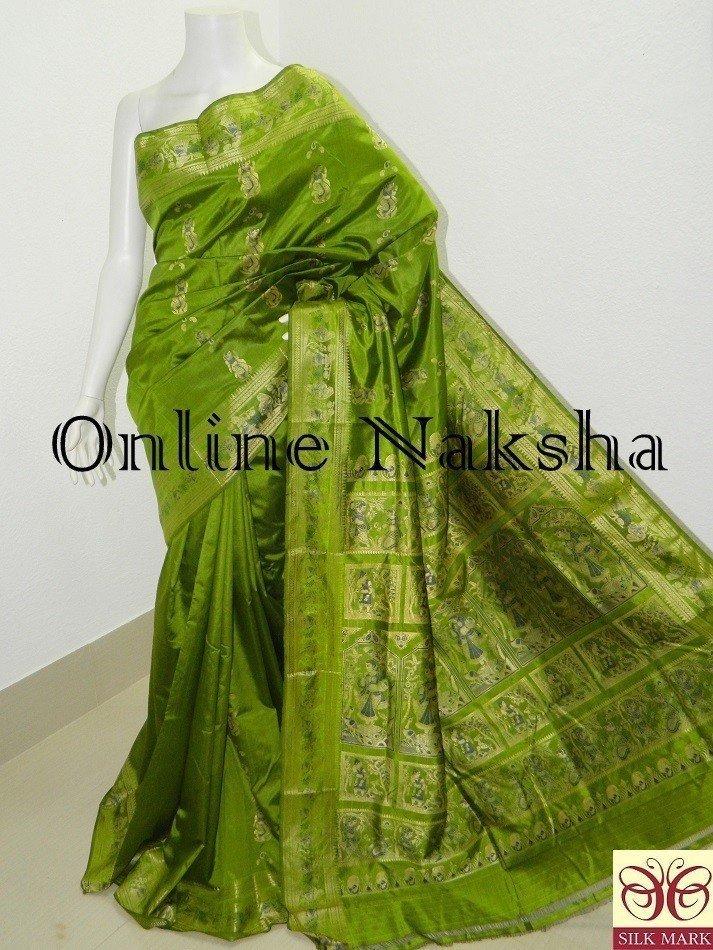 Bishnupuri Pure Silk Handloom Baluchari Saree