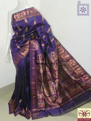 Purple Bridal Sournchari Saree