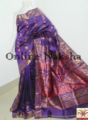 Purple Bridal Sournchari Saree Online