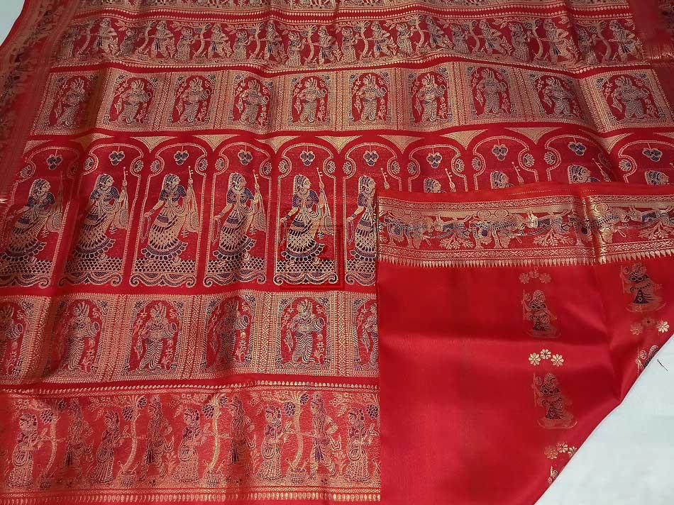 Bishnupuri Bridal Swarnachari Saree Online