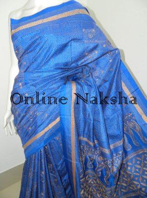 Traditional Bengal Pure Silk Kantha Saree