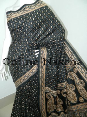 Exclusive Hand Embroidery Silk Saree Online 4112