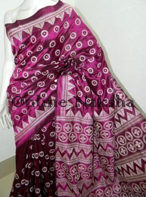Contemporary Kantha Stitch Saree Online