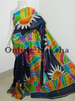 Bishnupuri Pure Silk Batik Saree Online