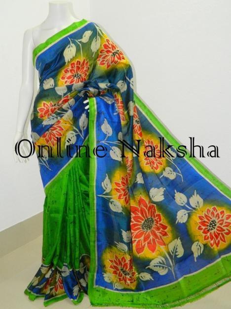Handloom Hand Batik Saree Online