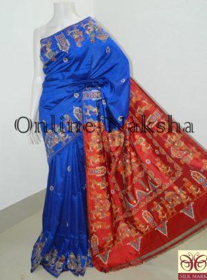 Handpainted Patachitra Pure Silk Saree