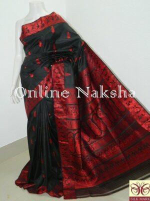 Black Bishnupuri Baluchari Silk Sarees Online