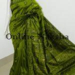 Green Bishnupuri Baluchari Silk