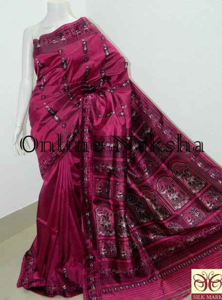 Exclusive Bishnupuri Baluchari Silk Sari