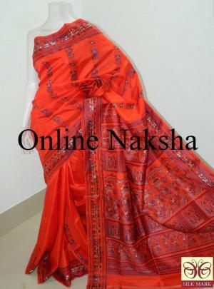 Pure Silk Bishnupuri Baluchari Sari Online
