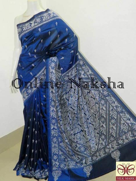 Hand Embroidery Silk Saree Online