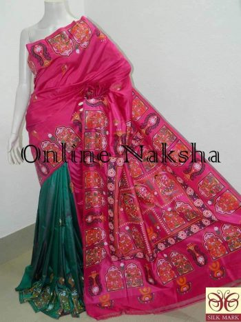 Patachitra Pure Silk Saree