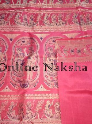 Gorgeous Bishnupuri Wedding Silk Sari