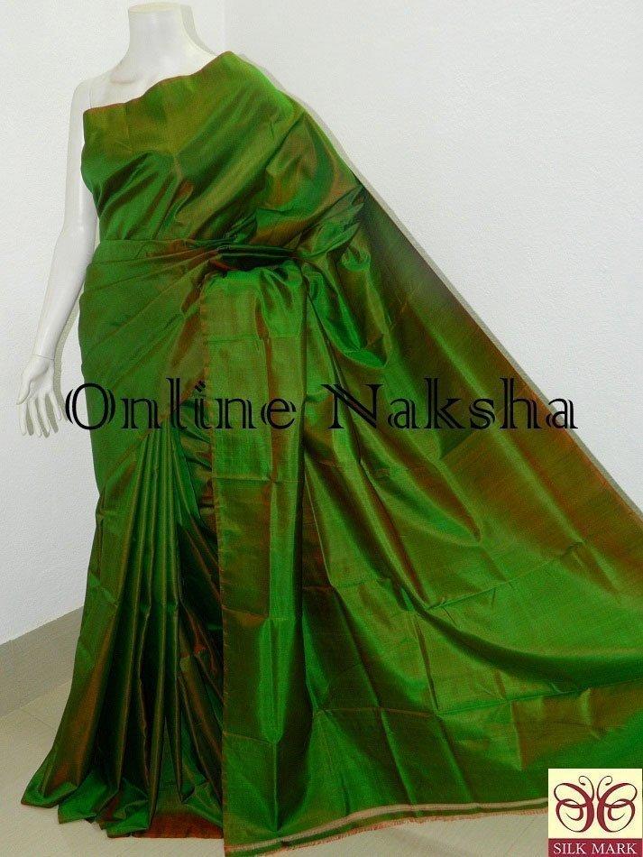 Green Handloom Pure Silk Saree Online