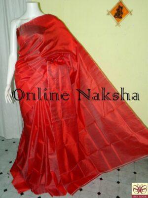 Bishnupuri Handloom Pure Silk Plain Saree