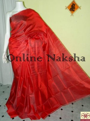 Bishnupuri Handloom Pure Silk Plain Saree