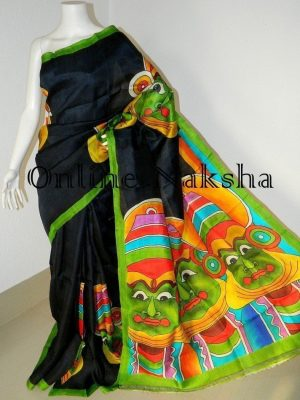Bishnupuri Silk Kathakali Paint Sari