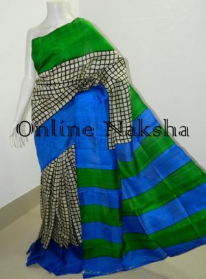 Handloom Block Print Silk Saree