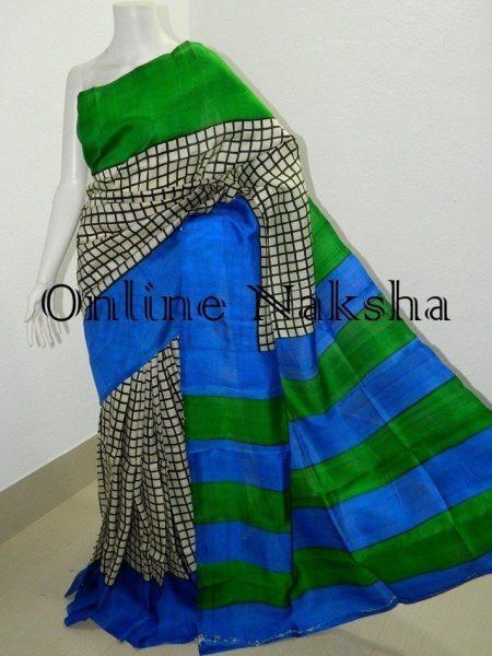 Handloom Block Print Silk Saree