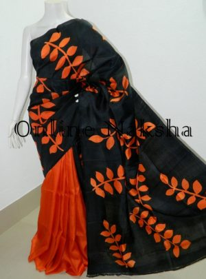 Bishnupuri Hand Paint Pure Silk Saree