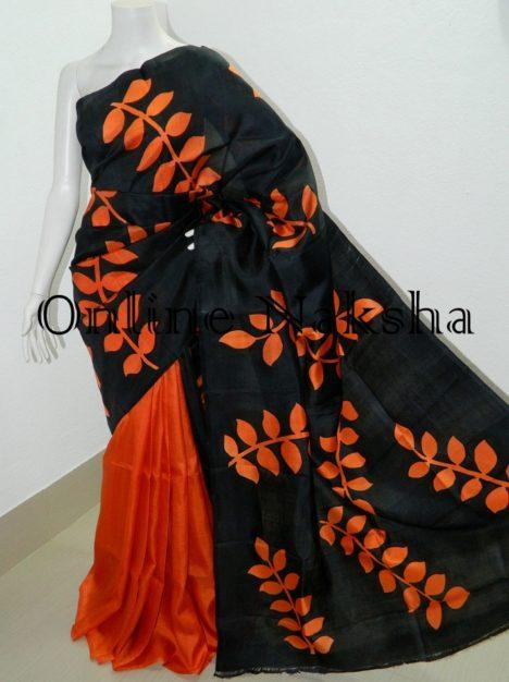 Bishnupuri Hand Paint Pure Silk Saree