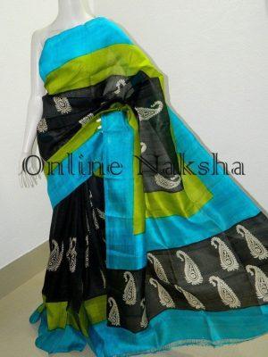 Printed Bishnupuri Silk Saree Online