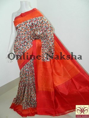 Bishnupur Sonamukhi Silk Printed Saree