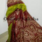 Hand Paint Batik Sonamukhi Silk Saree