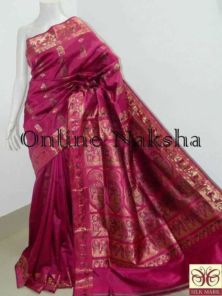 Nalli Bridal Silk Sournchari Saree Online