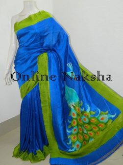 Handpaint Handloom Silk Saree