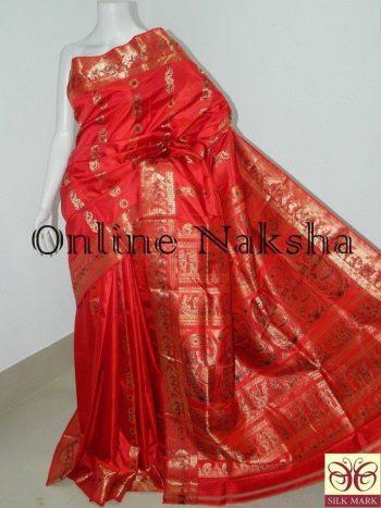 Red Bridal Sournchari Saree Online