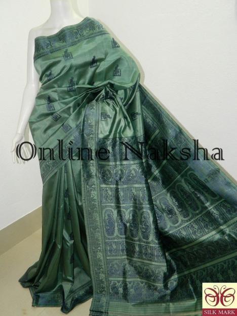 Bengal Traditional Silk Baluchari Sari
