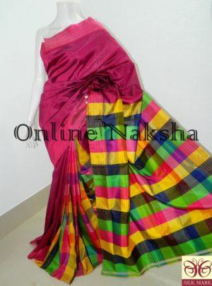 Bishnupuri Handloom 4D Silk Sari