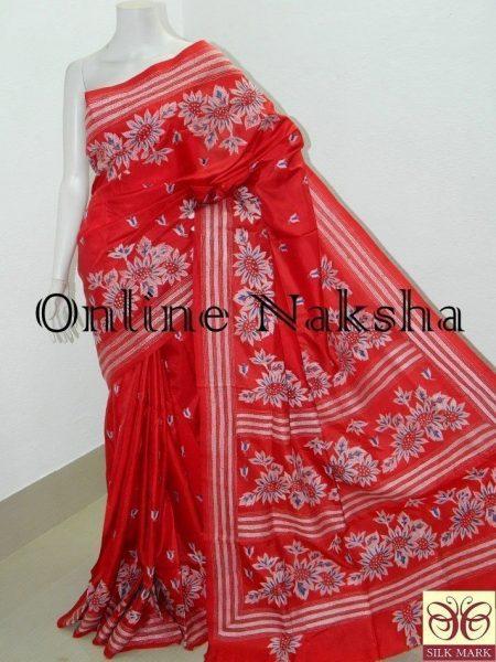 Kantha Stitch Saree