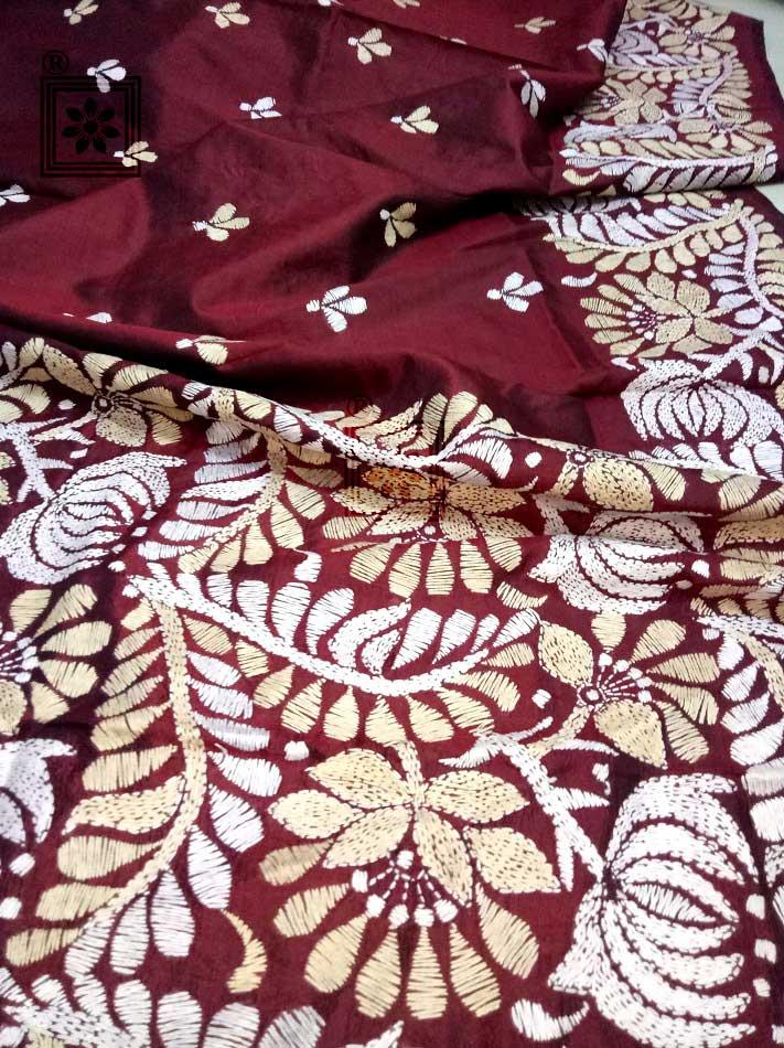 Hand Embroidery Saree Design
