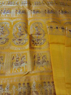 Swarnachari Silk Saree In Yellow Online 4414