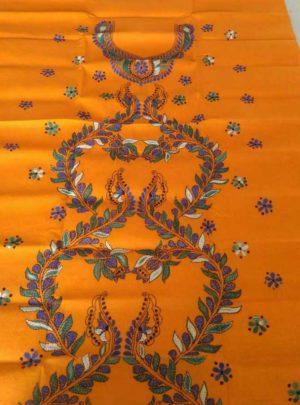 Cotton Kantha Kurti Unstitched Material