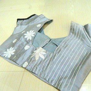 designer blouse back