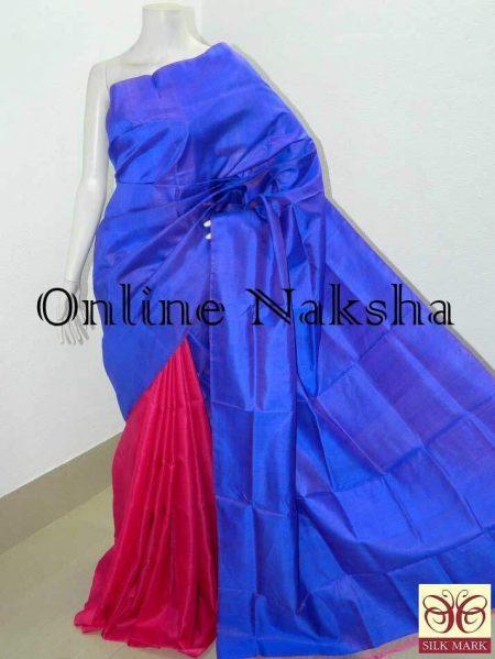 Pure Silk Plain Handloom Saree