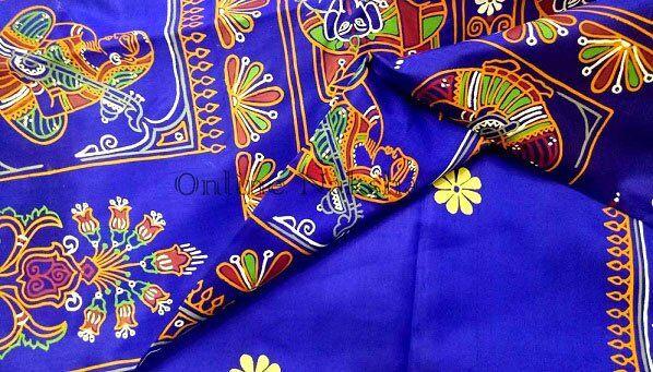 Pattachitra Painting on Silk Saree